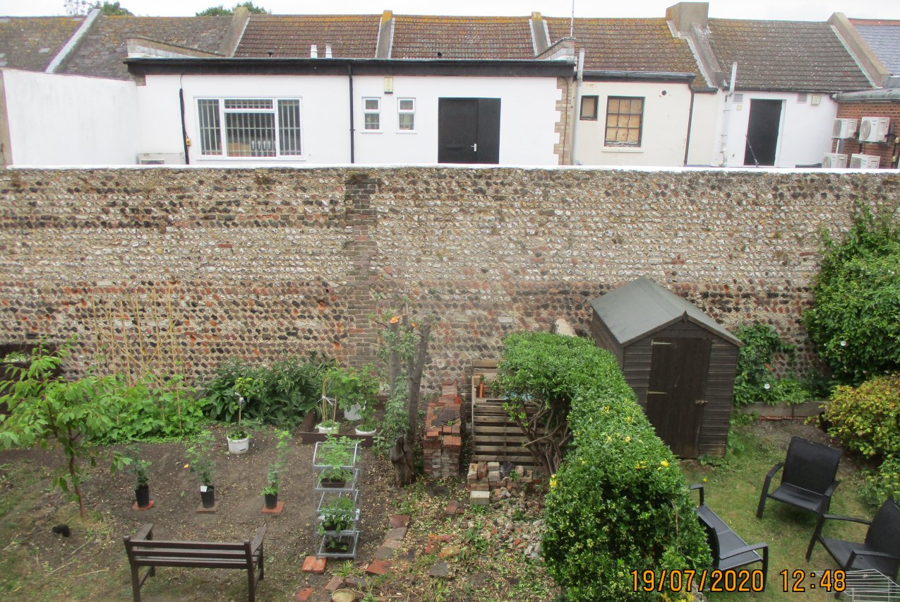 Little-known historic wall revealed in Hove