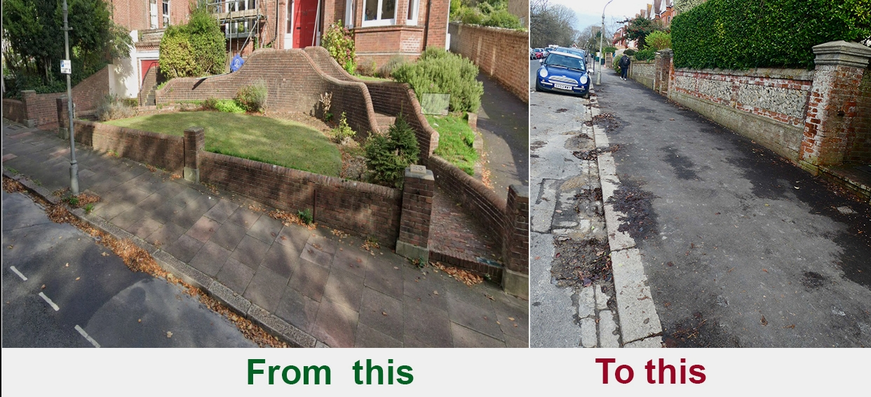 Is this the new Council policy for footpaths?