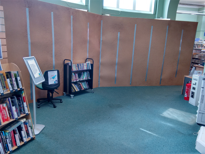 Hove Library: a sorry sight
