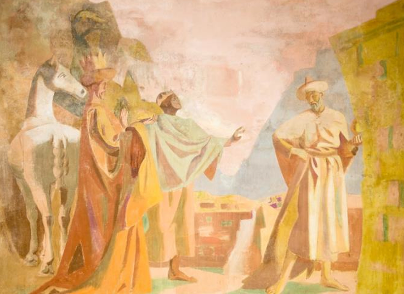 October Newsletter: Feibusch mural, St Wilfrid's Church